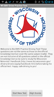 WI DMV Driver Practice Test - screenshot thumbnail