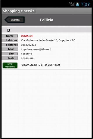 L'Aquila per Android - screenshot
