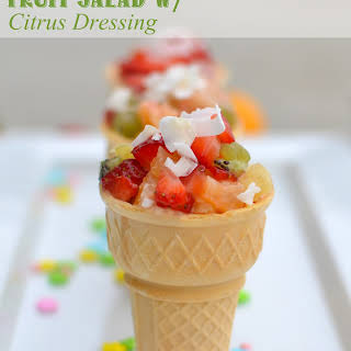 Fruit Salad with Citrus Dressing.