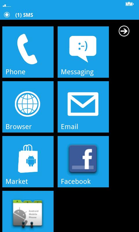 Windows Phone Android Lite - screenshot