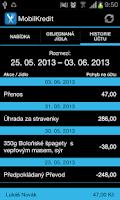 Screenshot of Mobilní objednávání Kredit