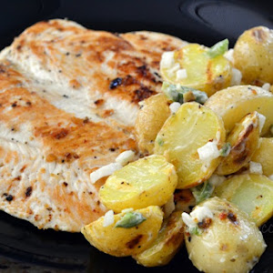 Grilled Chicken with Serrano Pepper Potato Salad
