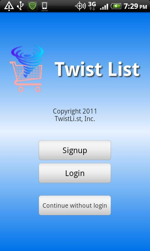 Twist List Pro - screenshot
