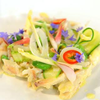 Peekytoe Crab Salad with Spring Vegetables