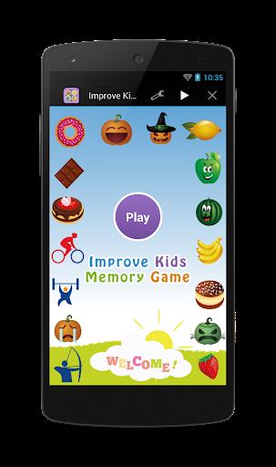 Improve Kids Memory Game