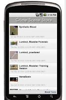Screenshot of Crime Scene Supply Store