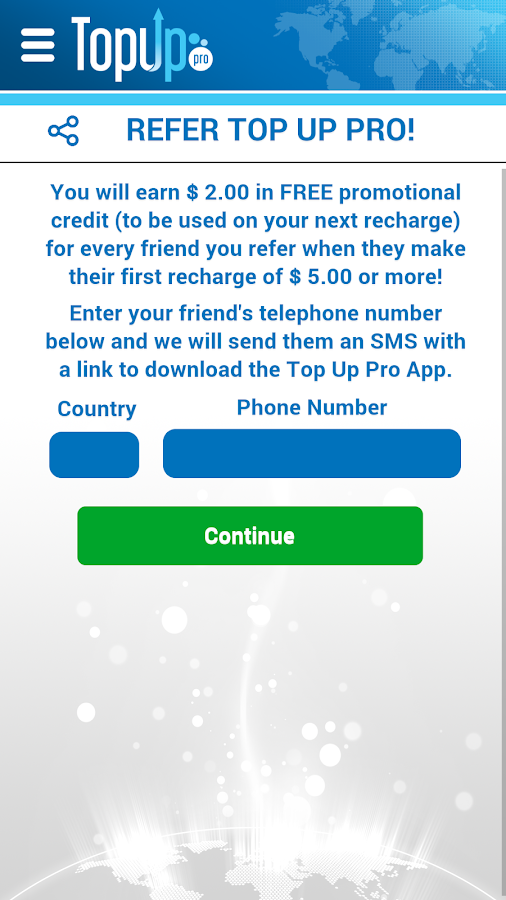 Top Up Pro - Mobile Recharge- screenshot