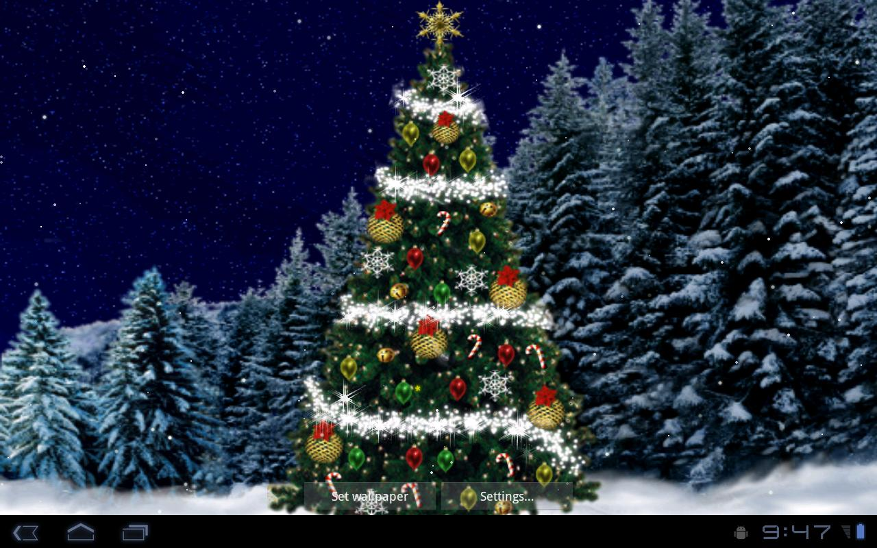 christmas tree live wallpaper android apps auf google play. Black Bedroom Furniture Sets. Home Design Ideas