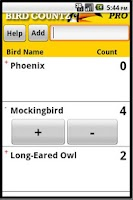 Screenshot of Bird Countz Pro