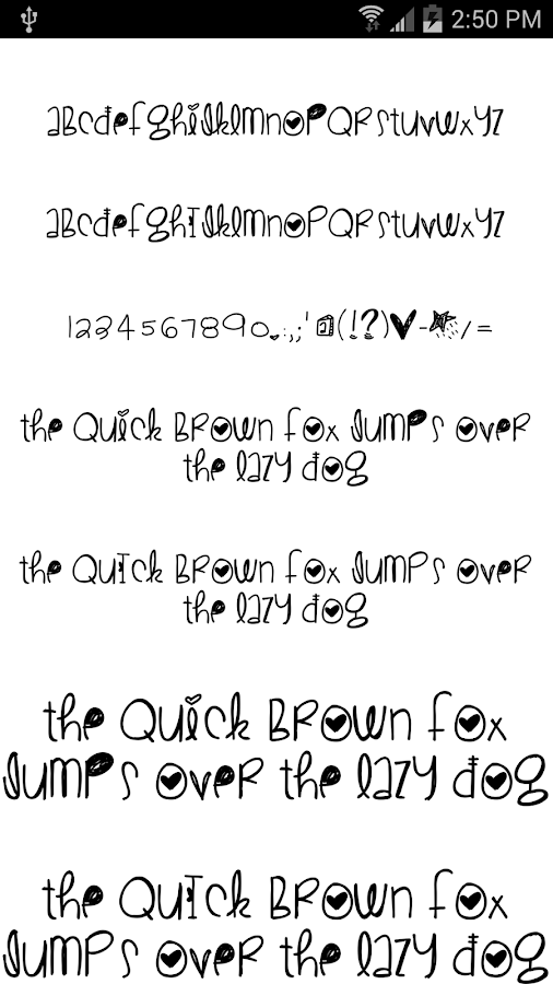 Fonts for FlipFont #17 - screenshot
