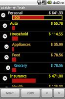 Screenshot of gbaMoney Money Tracking