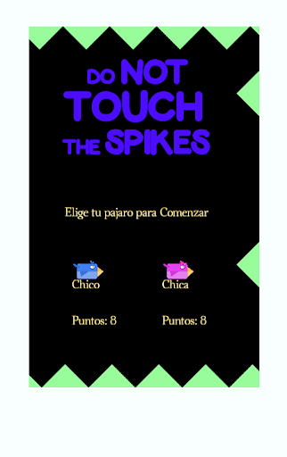 Do not touch the Spikes