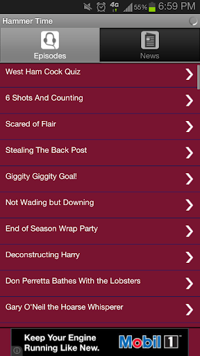 Stop Hammer Time - WHUFC App