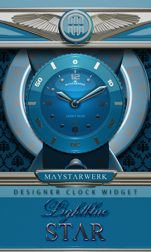 Clock Widget Lightblue Star