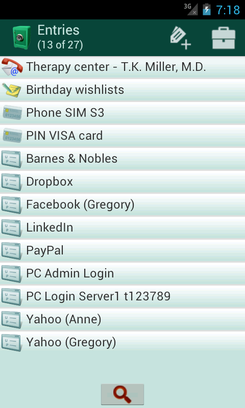 Secret Safe Password Manager - screenshot