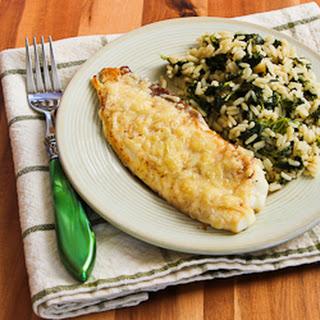 Sauteed Tilapia with Parmesan Crust.