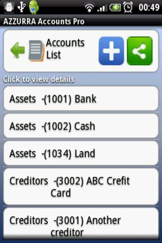 AZZURRA Financial Accounting - screenshot