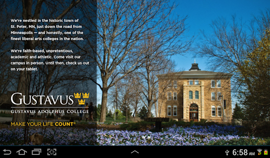 Gustavus on your Tablet - screenshot thumbnail