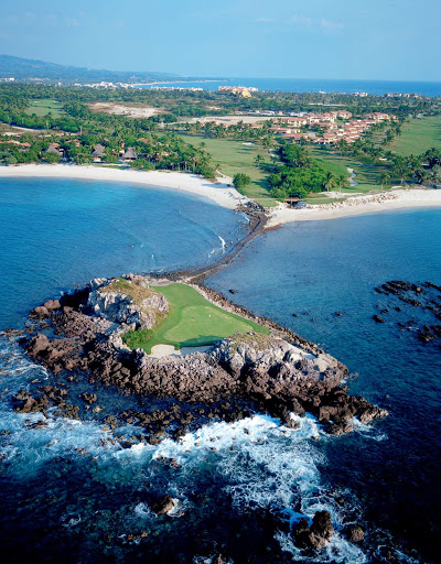 Tail-of-the-Whale-Golf-Pacifico-Nayarit-Mexico - The third hole at the Punta Mita Golf Course, near Puerto Vallarta, Mexico, is called Tail of Whale because of its distinctive shape.