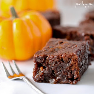 Gooey Pumpkin Butterscotch Brownies.