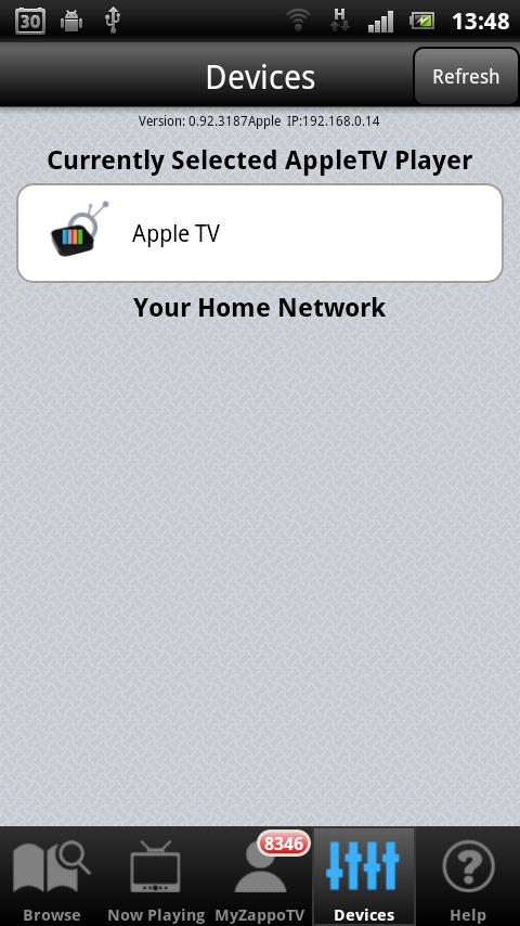 AppleTV AirPlay Media Player: captura de pantalla