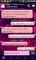 Screenshot of GO SMS Sweet Floral Theme Free