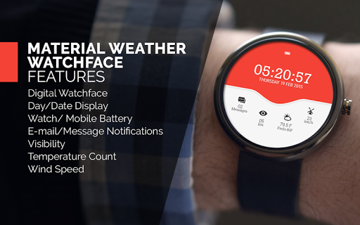 Material Weather Watch Face