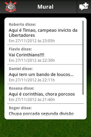 Corinthians Mobile- screenshot