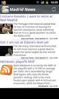 Screenshot of Madrid News