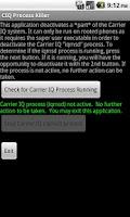 Screenshot of Carrier IQ Process Killer