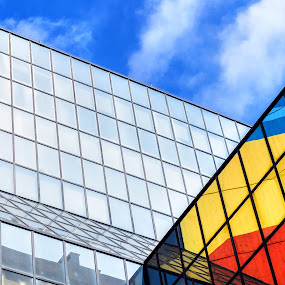 Colourful Lisbon by Ricardo Rocha - Buildings & Architecture Architectural Detail ( building, colorful, lines, architecture, lisbon,  )