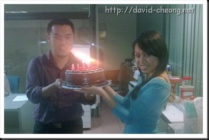Birthday cake with fanny