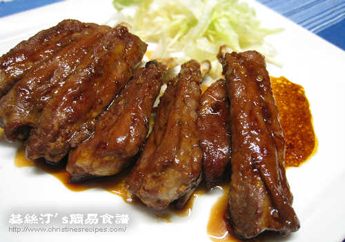 辣汁燒排骨 BBQ Ribs in Sweet Chili Sauce01