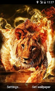 Fire Lion Live Wallpaper- screenshot thumbnail