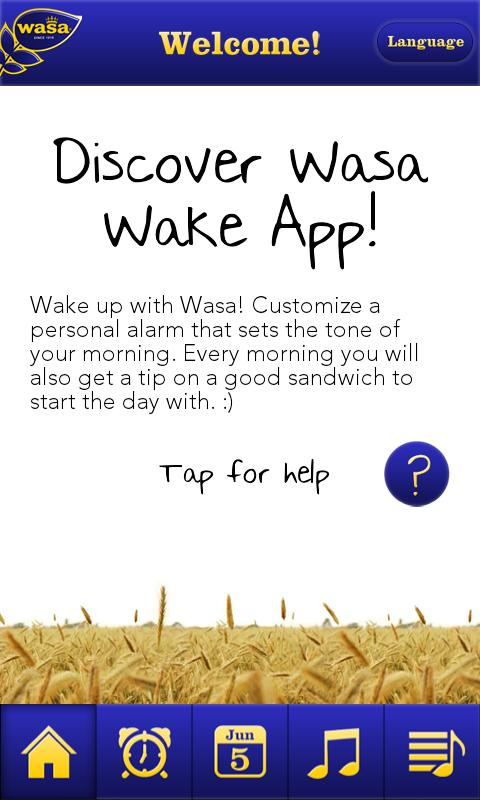 Wasa Wake App - screenshot