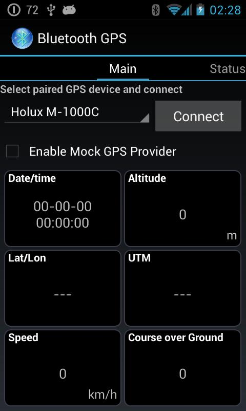 Bluetooth GPS - screenshot