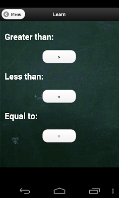 Greater than, Less than - screenshot