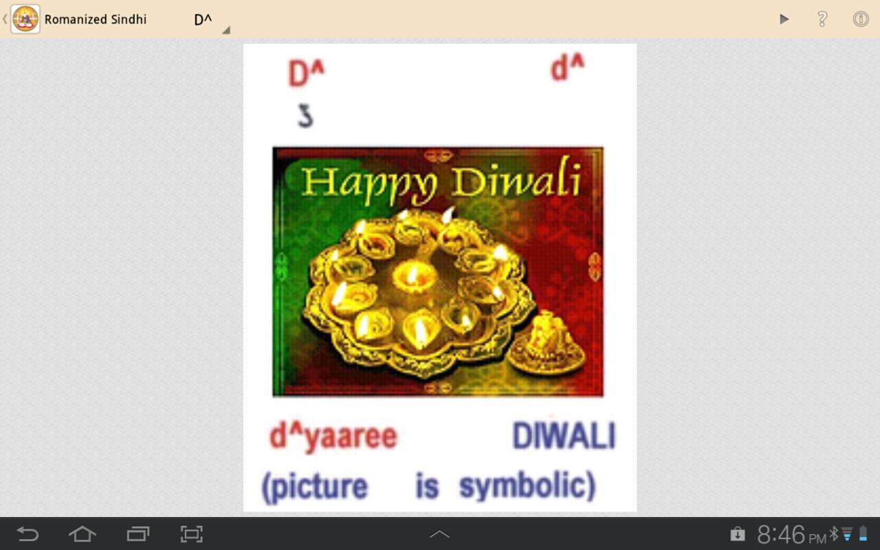 Romanized Sindhi- screenshot