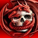 3D dragon and Skull logo