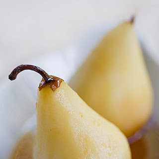 Marsala Poached Pears.