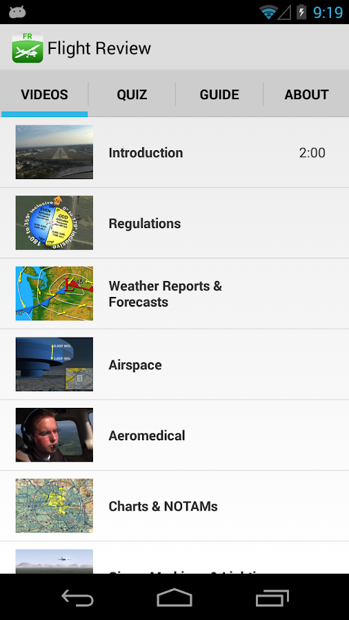 Sporty's Flight Review- screenshot