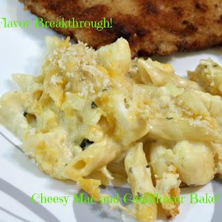 Cheesy Mac and Cauliflower Bake!