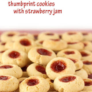 Condensed Milk Thumbprint Cookies.
