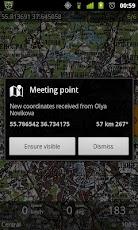 Andozic, hely megosztása SMS-ben
