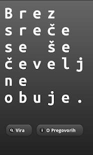Pregovori – sličica posnetka zaslona