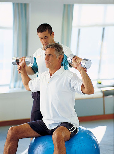 Spa-Fitness-Fitness-Center-Personal-Trainer-1 - Work with a personal trainer to get an optimized workout in the Fitness Center on the Crystal Serenity.