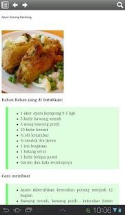 Resep Masakan Ayam - screenshot thumbnail