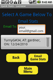 Quick Stats for Lacrosse - screenshot thumbnail