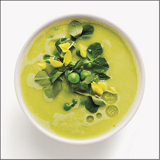 Fresh Pea and Garlic Gazpacho