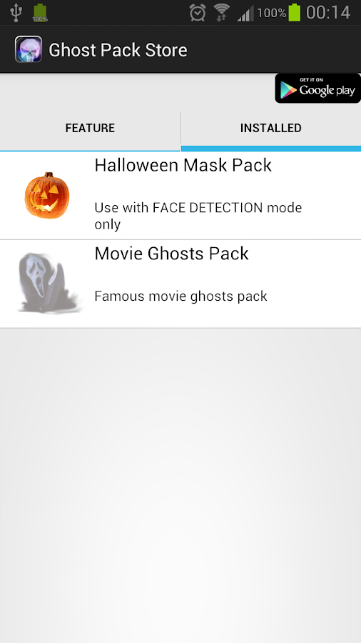 GhostCamEX Pack-Halloween Mask - screenshot